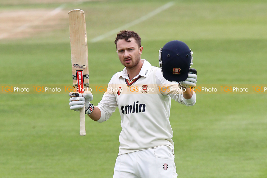 Jaik Mickleburgh celebrates scoring a century, 100 runs for Essex - Essex CCC vs Glamorgan CCC - LV County Championship Division Two Cricket at the Essex County Ground, Chelmsford, Essex - 19/09/13 - MANDATORY CREDIT: Gavin Ellis/TGSPHOTO - Self billing applies where appropriate - 0845 094 6026 - contact@tgsphoto.co.uk - NO UNPAID USE