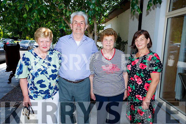 Enjoying the Sliabh Luachra Active Retired Gala Tea Dance in the Ballygarry Hotel on Monday. L to r:  Rita and Jimmy O'Donoghue and Mary Daly from Scartaglin with Catherine Brosnan (Knocknagoshel)