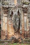 Buddha statue, Rankot Vihara stupa UNESCO World Heritage Site, the ancient city of Polonnaruwa, Sri Lanka, Asia