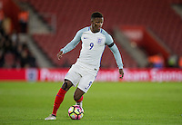 Demarai Gray (Leicester City) of England during the Under 21 International Friendly match between England and Italy at St Mary's Stadium, Southampton, England on 10 November 2016. Photo by Andy Rowland.