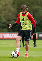 Pictured: Joe Allen. Monday 02 October 2017<br /> Re: Wales football training, ahead of their FIFA Word Cup 2018 qualifier against Georgia, Vale Resort, near Cardiff, Wales, UK.