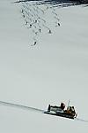 Back country snow cat powder skiing - Grand Targhee, Wyoming.