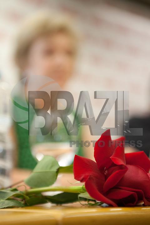 SAO PAULO, SP, 03 SETEMBRO 2012 -REFORMA DO FGTS, A Senadora Marta Suplicy, durante apresentacao do relatorio de sua autoria, sobre a Reforma do Fundo de Garantia por Tempo de Serviço (CASFGTS), aos empresarios e  diretoria da Fiesp ( Federacao das Industrias do Estado de Sao Paulo), na tarde desta segunda-feira, 03, na sede da Fiesp na regiao da avenida Paulista. FOTO: POLINE LYS - BRAZIL PHOTO PRESS