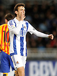 Real Sociedad's Ruben Pardo during La Liga match. April 9,2016. (ALTERPHOTOS/Acero)