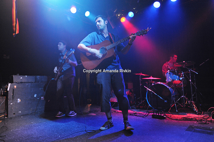 (L-R) Elliot Esparza, Lorian Toth, and Ryan Flanagan of Pet Peeve are seen during a live set at the Double Door in Chicago on June 5, 2011.