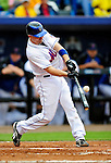 11 March 2010: New York Mets catcher Chris Coste in action during a Spring Training game against the Boston Red Sox at Tradition Field in Port St. Lucie, Florida. The Red Sox defeated the Mets 8-2 in Grapefruit League action. Mandatory Credit: Ed Wolfstein Photo
