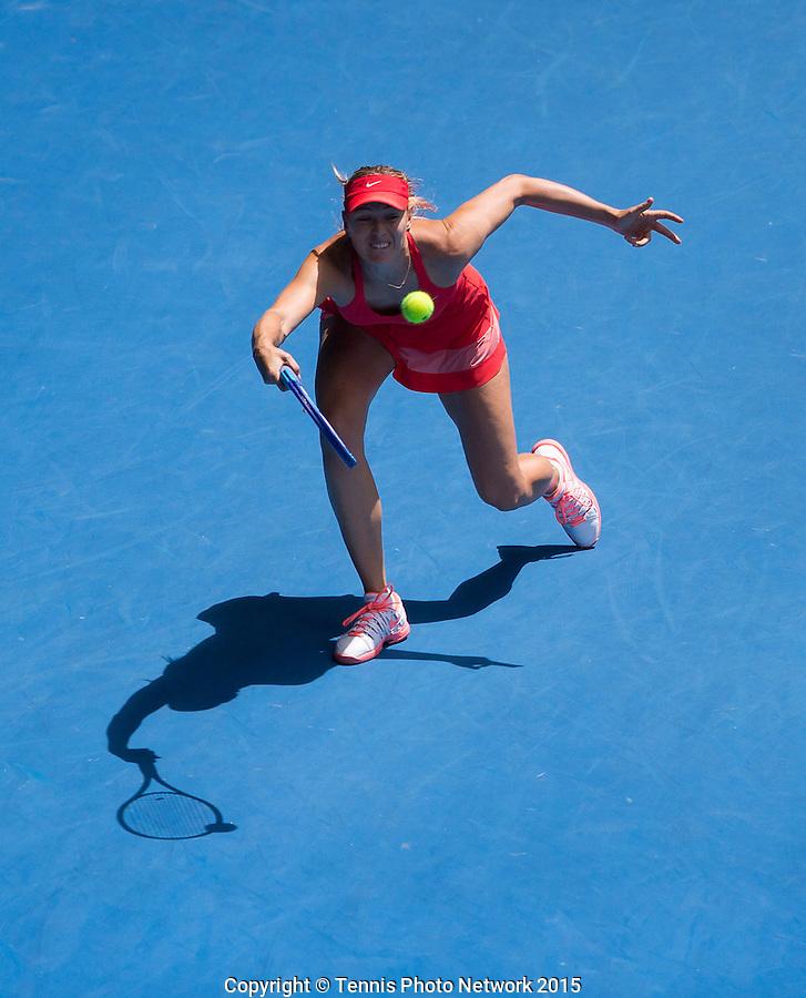 MARIA SHARAPOVA (RUS)<br /> <br /> Tennis - Australian Open 2015 - Grand Slam -  Melbourne Park - Melbourne - Victoria - Australia  - 29 January 2015. <br /> &copy; AMN IMAGES
