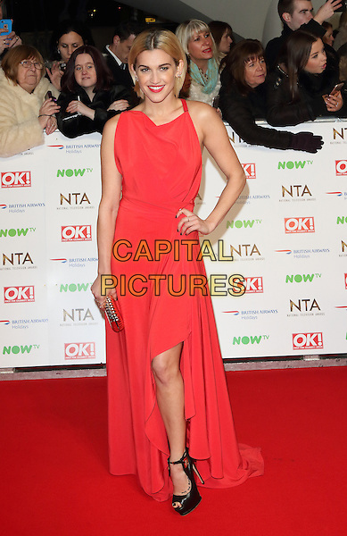 LONDON, ENGLAND - Ashley Roberts at the National Television Awards 2016 Red Carpet arrivals at the O2 Arena on January 20th 2016 in London, England<br /> CAP/ROS<br /> &copy;ROS/Capital Pictures