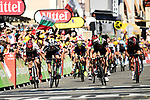 Michael Matthews (AUS) Team Sunweb outsprints John Degenkolb (GER) Trek-Segafredo and Edvald Boasson HAgen (NOR) Dimension Data to win Stage 16 of the 104th edition of the Tour de France 2017, running 165km from Le Puy-en-Velay to Romans-sur-Isere, France. 18th July 2017.<br /> Picture: ASO/Alex Broadway | Cyclefile<br /> <br /> <br /> All photos usage must carry mandatory copyright credit (&copy; Cyclefile | ASO/Alex Broadway)