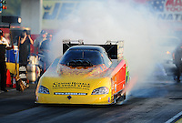 Sept. 2, 2011; Claremont, IN, USA: NHRA funny car driver Bob Bode during qualifying for the US Nationals at Lucas Oil Raceway. Mandatory Credit: Mark J. Rebilas-