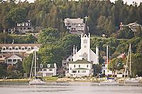 The waterfront of Mackinac Island Michigan.