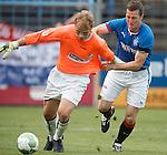 Jon Daly tries to go around keeper Michael Joswig