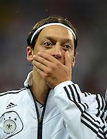 FUSSBALL Nationalmannschaft Freundschaftsspiel:  Deutschland - Argentinien             15.08.2012 Mesut Oezil (Deutschland)