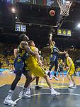 09.06.2019, EWE Arena, Oldenburg, GER, easy Credit-BBL, Playoffs, HF Spiel 3, EWE Baskets Oldenburg vs ALBA Berlin, im Bild<br /> Kenneth OGBE (ALBA Berlin #25 ) Rashid MAHALBASIC (EWE Baskets Oldenburg #24 ) Nathan BOOTHE (EWE Baskets Oldenburg #45 ) Landry NNOKO (ALBA Berlin #35 )<br /> <br /> Foto © nordphoto / Rojahn