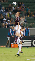 CARSON, CA – September 9, 2011: Colorado Rapid midfielder Jeff Larentowicz (4) during the match between LA Galaxy and Colorado Rapids at the Home Depot Center in Carson, California. Final score LA Galaxy 1, Colorado Rapids 0.