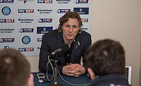 Wycombe Wanderers Manager Gareth Ainsworth gives a post match interview during the Sky Bet League 2 match between Wycombe Wanderers and Leyton Orient at Adams Park, High Wycombe, England on 23 January 2016. Photo by Andy Rowland / PRiME Media Images.