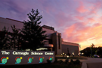 Pittsburgh, Carnegie, science center, sunset, PA, Pennsylvania, Carnegie Science Center, sunset.