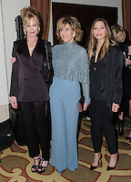 "05 December 2016 - Beverly Hills, California. Melanie Griffith, Jane Fonda, Elizabeth Olsen.   Equality Now's 3rd Annual ""Make Equality Reality"" Gala  held at Montage Beverly Hills. Photo Credit: Birdie Thompson/AdMedia"