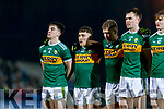 Brian Ó Beaglaíoch Dara Moynihan Peter Crowley Jack Barry Diarmuid O'Connor Kerry players before the Allianz Football League Division 1 Round 3 match between Kerry and Dublin at Austin Stack Park in Tralee, Kerry on Saturday night.