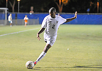 Florida International University men's soccer player Colby Burdette (2)  plays against Nova University on August 26, 2011 at Miami, Florida. FIU won the game 2-0. .