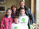 The Kelly Family from Beamore road who took part in the Great Gorta walk from Oldbridge Estate to Drogheda. Photo: Colin Bell/pressphotos.ie