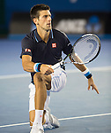 Novak Djokovic (SRB) defeats Fernando Verdasco (ESP) 7-6, 6-3, 6-4 at the Australian Open being played at Melbourne Park in Melbourne, Australia on January 24, 2015