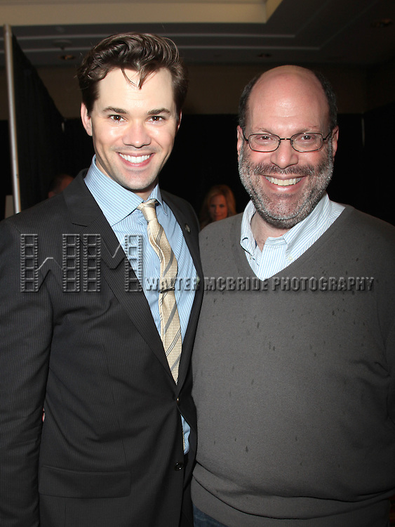 Andrew Rannells &amp; Scott Rudin<br /> attending the 65th Annual Tony Awards Meet The Nominees Press Reception on May 4, 2011 at the Millennium Hotel in New York City.