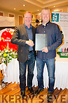 A WELL DESERVED AWARD: Republic of Ireland Master's Ronnie Whelan present a Lifetime Achievement Award to Internazionale's Paul Cassidy for his services to the club.