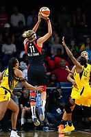 Washington, DC - Aug 8, 2019: Washington Mystics forward Elena Delle Donne (11) pulls up for a jump shot during 1st half action of game between the Indiana Fever and the Washington Mystics at the Entertainment & Sports Arena in Washington, DC. (Photo by Phil Peters/Media Images International)