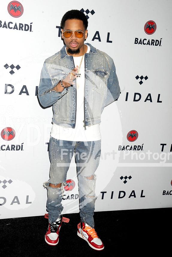 Mack Wilds beim 3. TIDAL X Brooklyn Benefizkonzert im Barclay's Center. New York, 17.10.2017