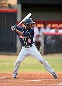 Lake Brantley Patriots infielder Jay Charleston (06) during a game against the Lake Mary Rams on April 2, 2015 at Allen Tuttle Field in Lake Mary, Florida.  Lake Brantley defeated Lake Mary 10-5.  (Mike Janes Photography)