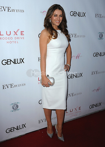 BEVERLY HILLS, CA - MARCH 12:   Elizabeth Hurley at the Genlux Issue Release Party at Eve By Eves on March 12, 2015 in Beverly Hills, California. Credit: PGSK/MediaPunch