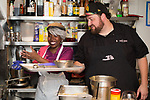 New York, NY - March 14, 2018: Chef-contestants of The Next Food Network Star reunite for a dinner at the James Beard House. The dinner, featuring chefs Jay Ducote, Alex McCoy, Arnold Myint and Dom Tesoriero, is the first time the chefs have cooked together since competing on the air three years ago.<br /> <br /> CREDIT: Clay Williams for The James Beard Foundation.<br /> <br /> &copy; Clay Williams / http://claywilliamsphoto.com