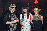 Guests wearing masks at the Veuve Clicquot Yelloween party.
