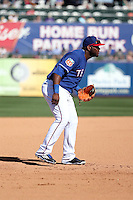 Hanser Alberto - Texas Rangers 2016 spring training (Bill Mitchell)