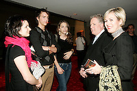 Jean Charest, Queber Premier (L) and his wife Micheline (R) talk with music students before a piano concert at <br /> Place des Arts - Theatre Maisonneuve concert Hall, Montreal<br /> Photo by Pierre Roussel / Images Distribution