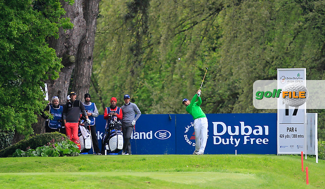 Oliver Wilson (ENG) on the 17th tee during Round 1 of the Dubai Duty Free Irish Open presented  by the Rory Foundation at The K Club, Straffan, Co. Kildare<br /> Picture: Golffile | Thos Caffrey<br /> <br /> All photo usage must carry mandatory copyright credit <br /> (&copy; Golffile | Thos Caffrey)