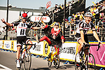 Didi the Devil has some fun with Team Sunweb riders before the Tour de France Saitama Crit&eacute;rium 2017 held around the streets os Saitama, Japan. 4th November 2017.<br /> Picture: ASO/Pauline Ballet | Cyclefile<br /> <br /> <br /> All photos usage must carry mandatory copyright credit (&copy; Cyclefile | ASO/Pauline Ballet)