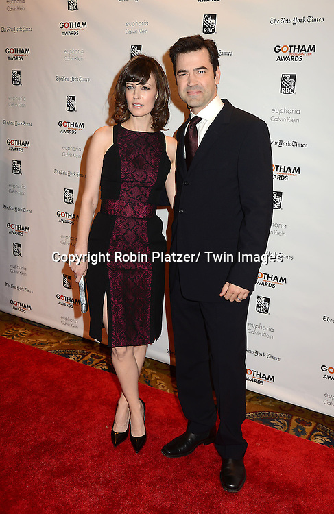 Rosemarie DeWitt and husband Ron Livingston attends the 22nd Annual IFP Gotham Independent Film  Awards on November 26, 2012 at Cipriani Wall Street in New York City.
