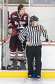 Justin Braun (UMass - 27) - The Boston College Eagles defeated the University of Massachusetts-Amherst Minutemen 5-2 on Saturday, March 13, 2010, at Conte Forum in Chestnut Hill, Massachusetts, to sweep their Hockey East Quarterfinals matchup.
