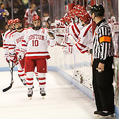 Danny O'Regan (BU - 10) - The Boston University Terriers defeated the visiting Merrimack College Warriors 4-0 (EN) on Friday, January 29, 2016, at Agganis Arena in Boston, Massachusetts.