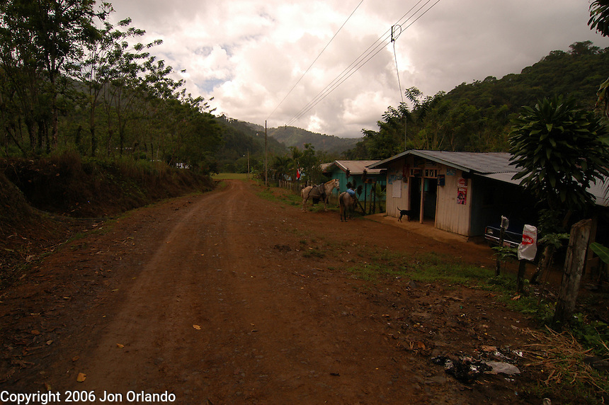 The town of Brujo, Costa Rica.