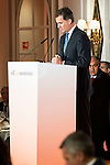 King Felipe VI of Spain during lunch commemorative twentieth anniversary of El Economista at Hotel VillaMagna in Madrid. June 08, 2016. (ALTERPHOTOS/BorjaB.Hojas)