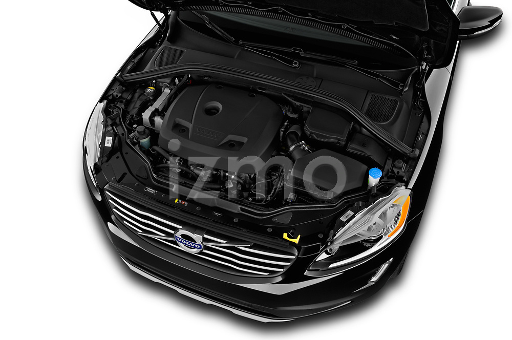 Car Stock 2017 Volvo XC60 Inscription 5 Door SUV Engine  high angle detail view