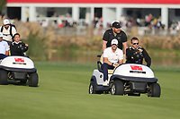 Xander Schauffele (USA) and Rory McIlroy (NIR) making there way down the 18th fairway during the final round of the WGC HSBC Champions, Sheshan Golf Club, Shanghai, China. 03/11/2019.<br /> Picture Fran Caffrey / Golffile.ie<br /> <br /> All photo usage must carry mandatory copyright credit (© Golffile | Fran Caffrey)