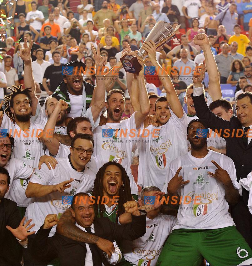 Il Montepaschi Siena vince il campionato di Basket<br /> 19/06/2013 Roma, Palatiziano<br /> Play Off Basket, finali gara 5.<br /> Acea Virtus Roma vs Montepaschi Siena<br /> Foto Antonietta Baldassarre / Insidefoto
