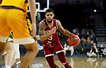 SIOUX FALLS, SD - MARCH 7: Jase Townsend #3 of the Denver Pioneers drives to the basket against the North Dakota State Bison defense at the 2020 Summit League Basketball Championship in Sioux Falls, SD. (Photo by Richard Carlson/Inertia)