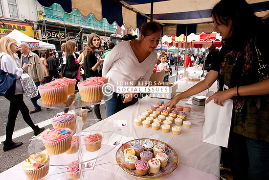Green Lanes food festival, Haringey London UK