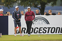 Tom Lewis (ENG) on the 13th tee during Round 1of the Sky Sports British Masters at Walton Heath Golf Club in Tadworth, Surrey, England on Thursday 11th Oct 2018.<br /> Picture:  Thos Caffrey | Golffile<br /> <br /> All photo usage must carry mandatory copyright credit (© Golffile | Thos Caffrey)