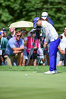 Hye-Jin Choi (a)(KOR) watches her putt on 1 during Sunday's final round of the 72nd U.S. Women's Open Championship, at Trump National Golf Club, Bedminster, New Jersey. 7/16/2017.<br /> Picture: Golffile | Ken Murray<br /> <br /> <br /> All photo usage must carry mandatory copyright credit (&copy; Golffile | Ken Murray)